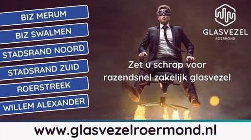 Glasvezel Roermond organiseert voor ondernemers op bedrijventerreinen Roermond en Swalmen een info bijeenkomst in Roerstreek.